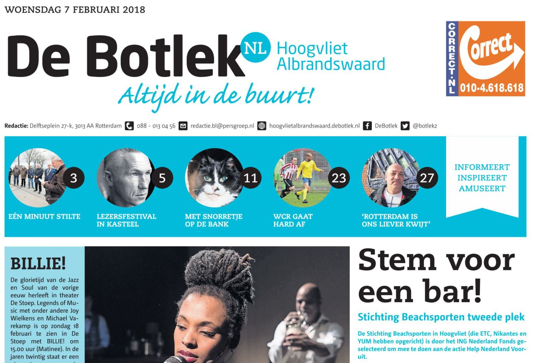 2018 Stemmenactie op voorpagina Botlek (2)