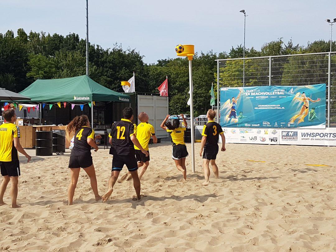 Foto van het Beachkorfbaltoernooi voor op de zaterdag aanmeldingspagina Foto 11-min