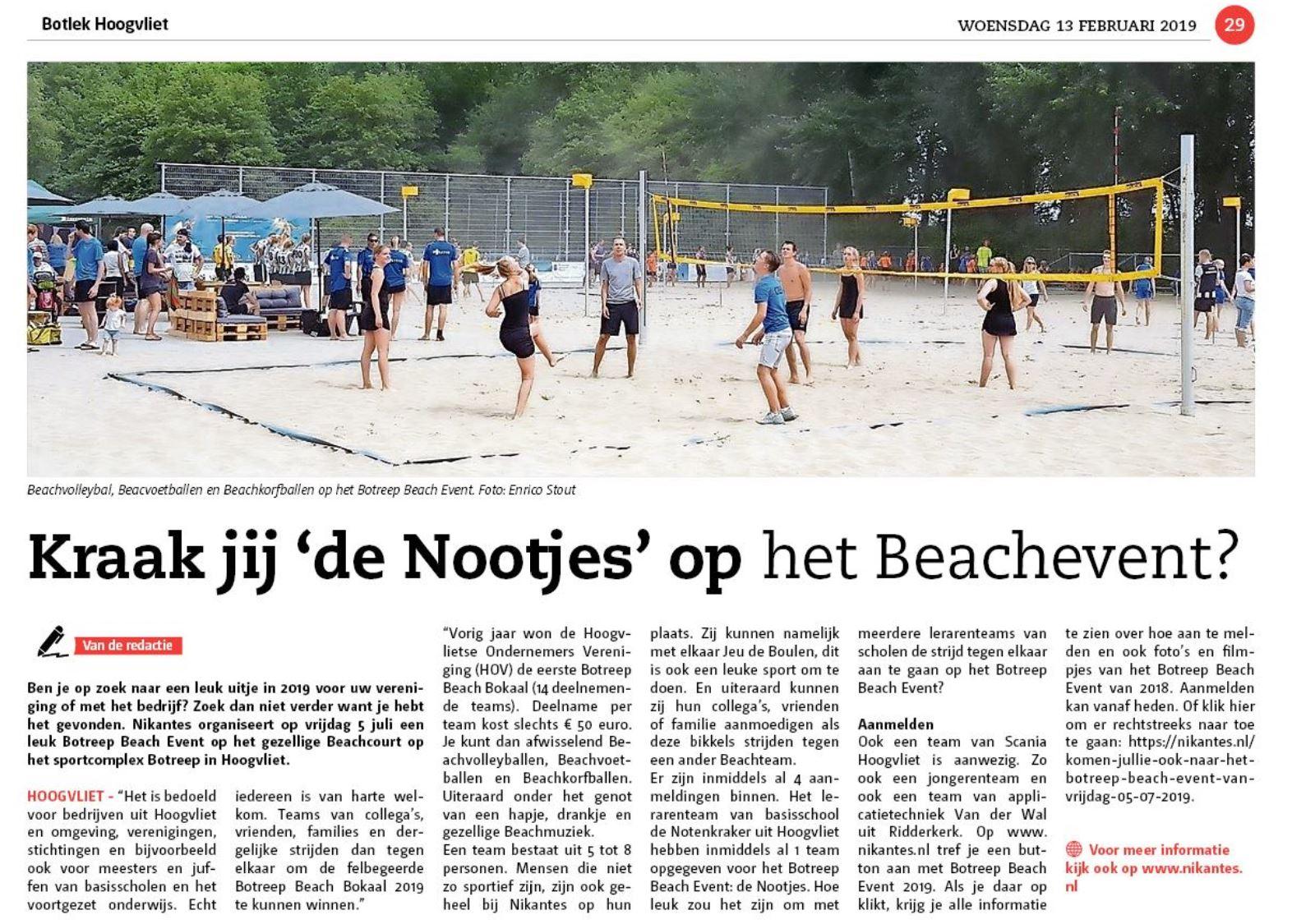 Botreep Beach Event In De Botlek Van Woensdag 13 02 2019