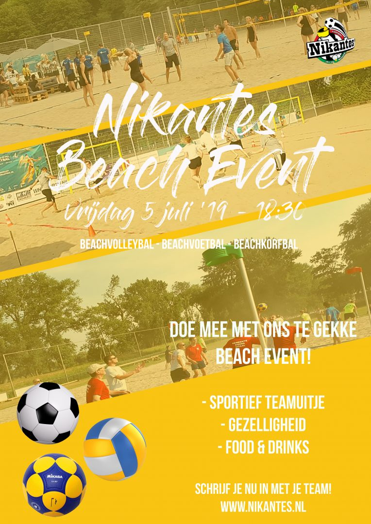 Flyer Botreep Beach Event vrijdag 05-07-2019