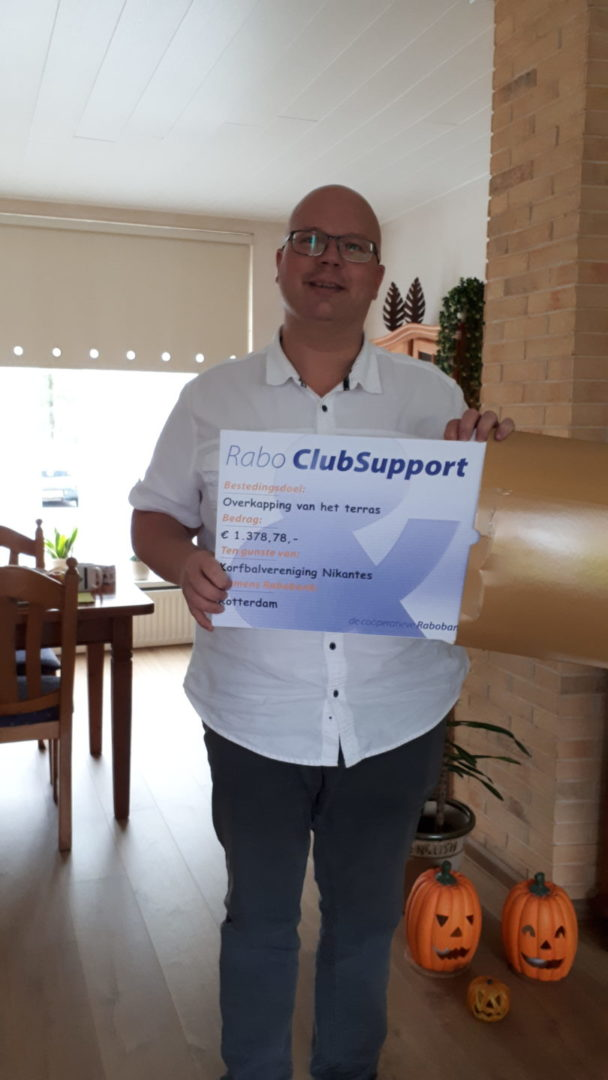 Cheque Rabobank Clubsupport 27-10-2020