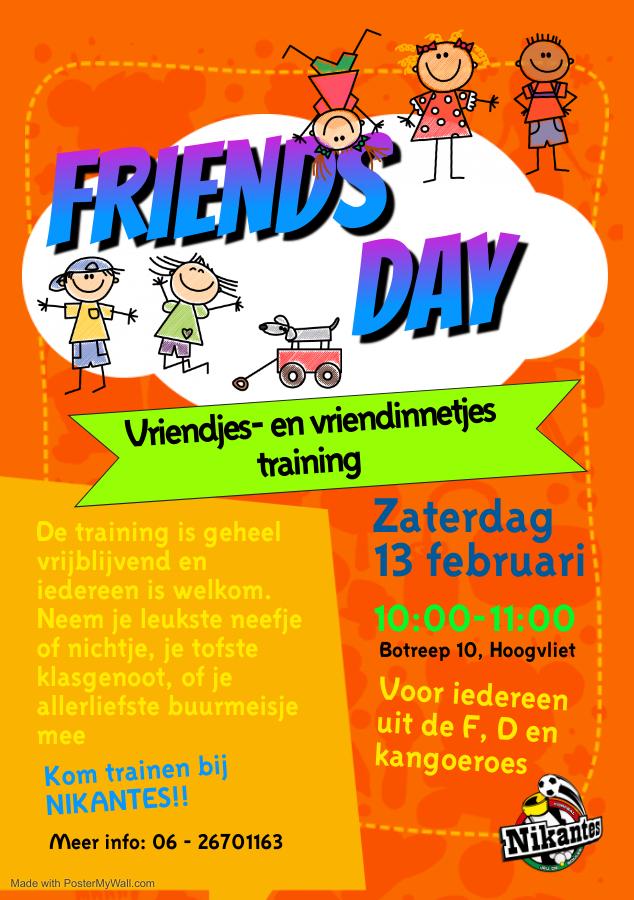 Vriendjes en Vriendinnetjestraining Zaterdag 13-02-2021